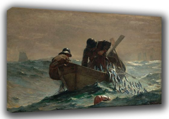 Homer, Winslow: The Herring Net. Marine/Fishing Fine Art Canvas. Sizes: A3/A2/A1. (003031)